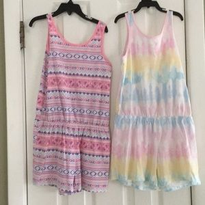 THE CHILDREN'S PLACE ROMPERS (SET OF 2) SIZE 7/8